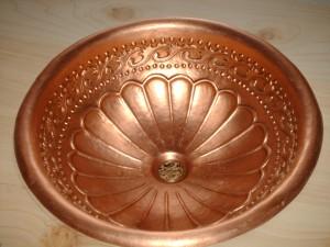 lavamanos de cobre