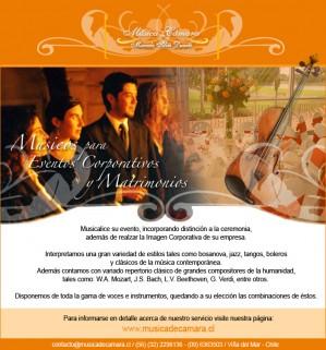 servicios musicales para eventos y matrimonios, viña del mar