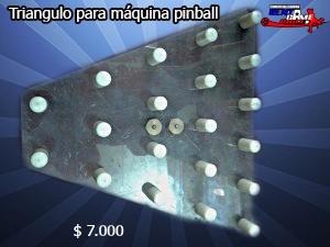 triangulo para máquina de juego pinball/ $ 7.000