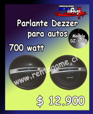 parlante dezzer para autos modelo dz-6078 precio: $ 12.900