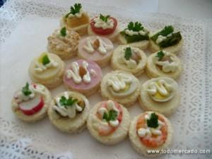 productos coctel canapes petitbouche empanaditas cebiche pastelitos