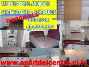 departamento amoblado  a pasos hospital universidad catolica disponible met