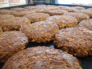 comida vegetariana de elaboracion propia hamburguesas, gluten, granola, empanadas