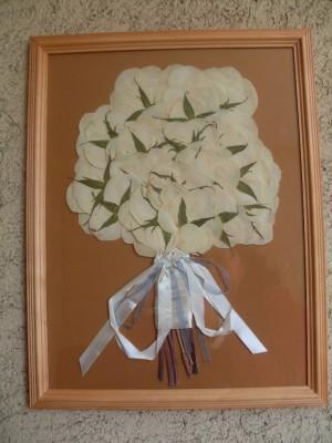 ::::enmarcado de tu ramo de novia prensados::::