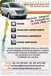 Transporte privado de pasajeros, transporte de personal y turismo.  trasfer