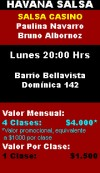 clases de salsa, bachata, mambo en dos, merengue, en la Florida, Santiago,